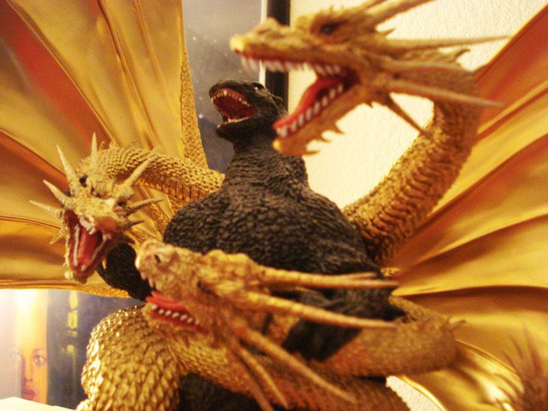 Ceramic Godzilla vs King Ghidorah