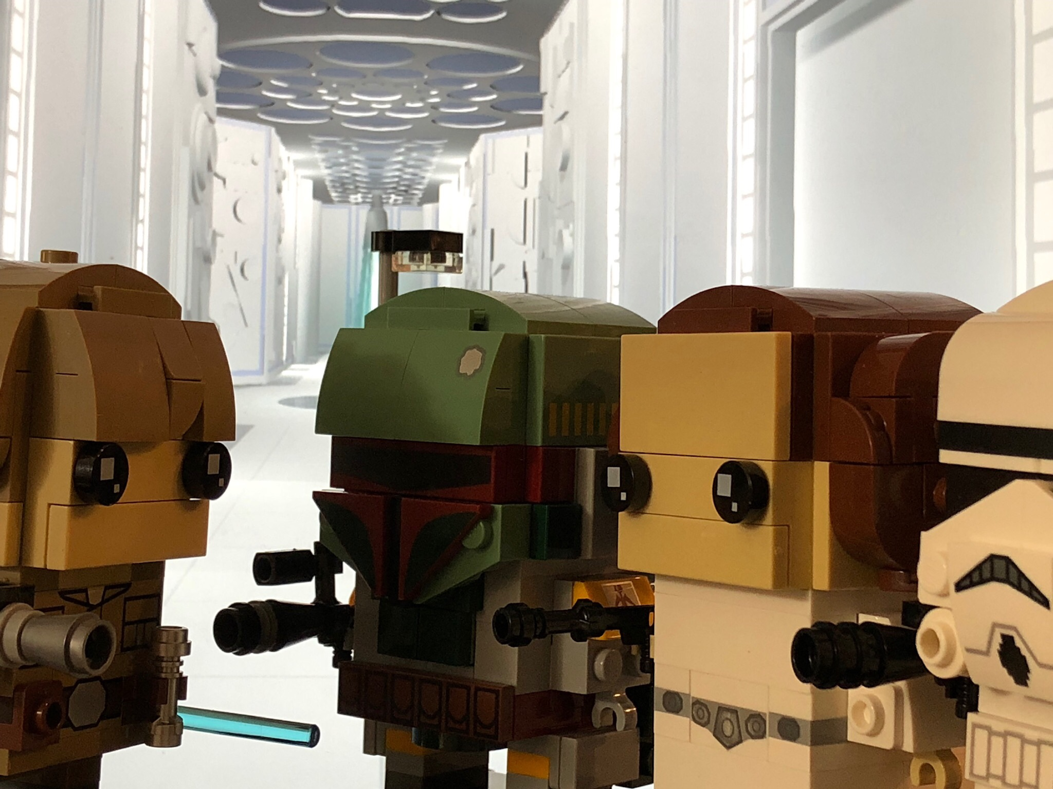 LEGO Brickheadz Luke Skywalker, Boba Fett, Princess Leia, Stormtrooper